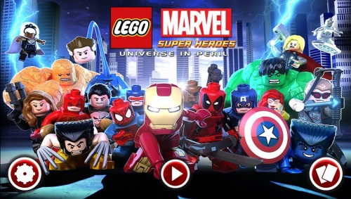 Lego Marvel Superheroes: Universe In Peril PS Vita start screen